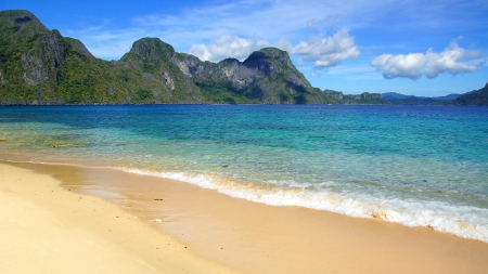 Helicopter island beach.  El Nido, Philippines photo