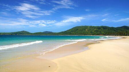 palawan: Nacpan Beach  El Nido, Palawan island, Philippines Stock Photo