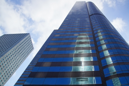 IFC is reflected in the Exchange Square Tower.