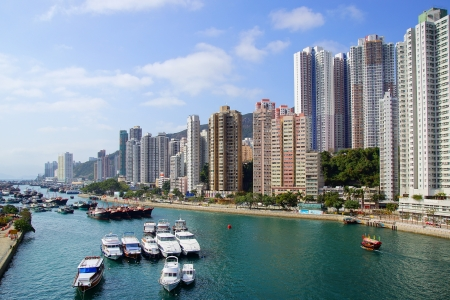 famous industries: Traditional junks in the Aberdeen Bay.  Hong Kong