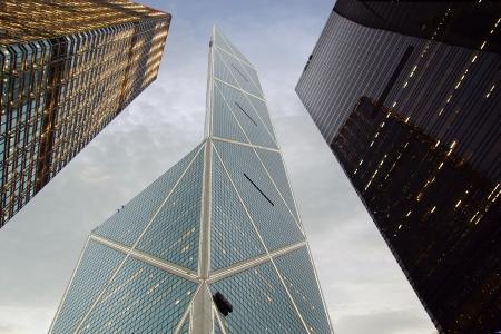 Citibank &amp, ICBC Towers &amp, Bank of China at Night. Hong Kong