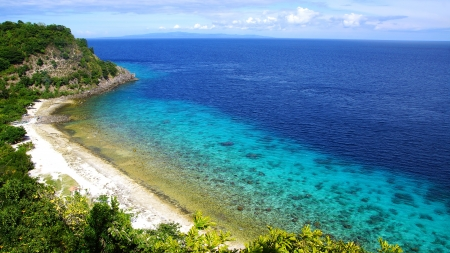 Picturesque sea landscape. Apo island, Philippines photo