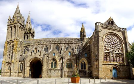 Cathedral in Saint Pol de Leon. Brittany, France photo