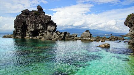 Picturesque sea landscape. Apo island, Philippines Stock Photo - 18629633