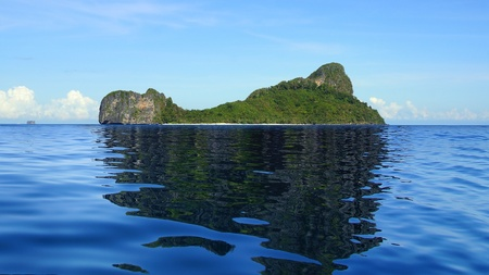 Sea landscape with Helicopter island. El Nido, Philippines photo