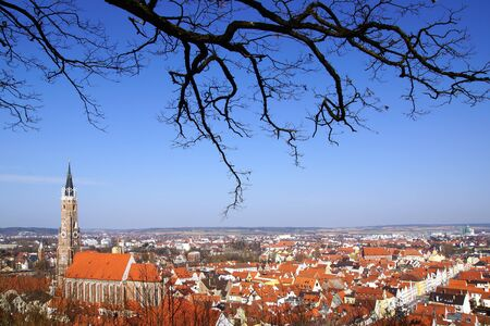 landshut: Picturesque panorama of Landshut. Germany