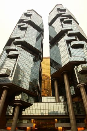 condominium complex: Lippo Centre-twin-tower skyscraper complex  Hong Kong