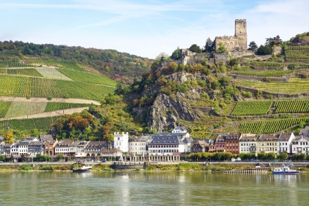 particularly: KAUB - SEPTEMBER 28: Burg Gutenfels. Tourist routeCastles of the Rhine. Rhine Valley has a particularly high density of important medieval military buildings on September 28, 2012 in Kaub, Germany