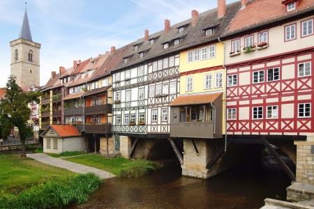 Merchants Bridge  Erfurt, Germany   Stock Photo - 18978392