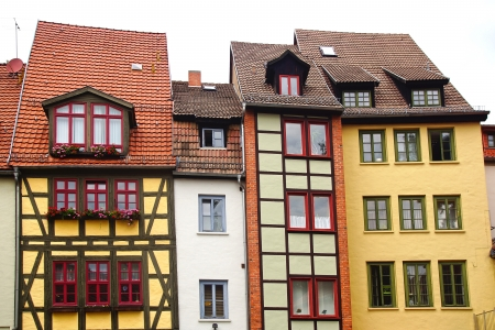 Fahverk houses in the Historical center of Erfurt, Germany Stock Photo - 18978390
