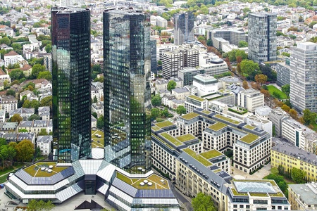 condominium complex: View from the Maintower in Frankfurt am Main