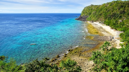 apo: Picturesque sea landscape. Apo island, Philippines