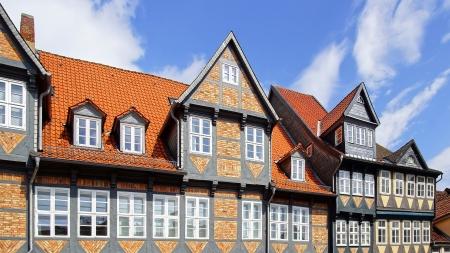 fachwerk: Old Fachwerk house in Wolfenbuttel   Niedersachsen, Germany  Stock Photo
