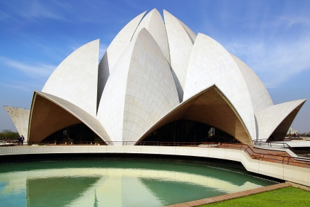the house of worship: The Bahai House of Worship in New Delhi, India