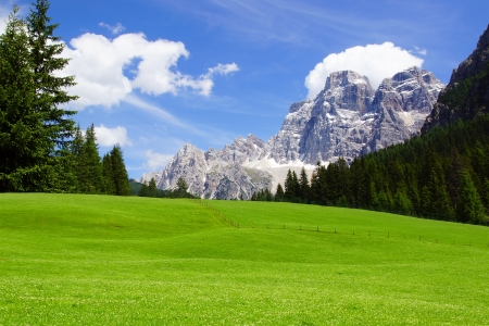 Picturesque Dolomites  landscape with mountain road. Italy Stock Photo - 19158886
