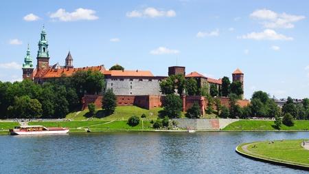 wawel: Picturesque landscape with Wawel Castle. Krakow, Poland