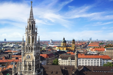 Panoramic view at the Munich, Germany Stock Photo