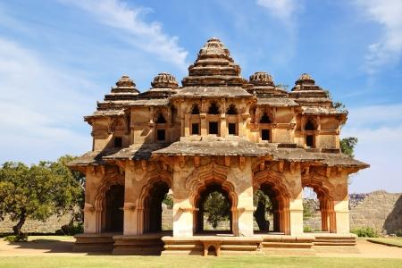 Picturesque panorama of ruins. Lotus Temple. Hampi, India.