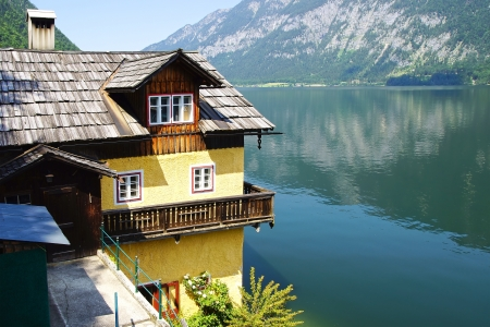 Picturesque panorama of  Hallstatter See. Upper Austria photo