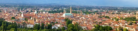 italian village: Panorama of the Vicenza with the Basilica.  Panorama