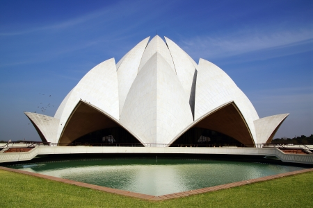 new delhi: On the photo: Lotus Temple, New Delhi