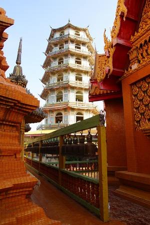Pagoda at Wat Tham Khao Noi.  Kanchanaburi, Thailand photo