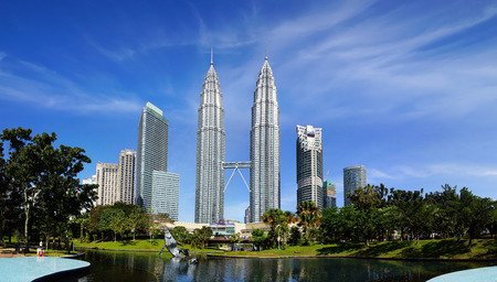 gemelas: Twin Towers en Kuala Lumpur, Malasia.  Editorial