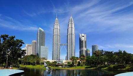 Twin Towers in Kuala Lumpur, Maleisië. Redactioneel