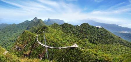 bracing: Sky bridge on the mountain,  Langkawi, Malaysia