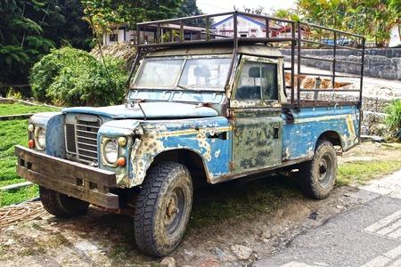 rusty car: Old 4wd at Plantation Cameron highlands, Malaysia