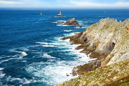 Lighthouse on Cape Sizun, Pointe du Raz  Brittany, France photo