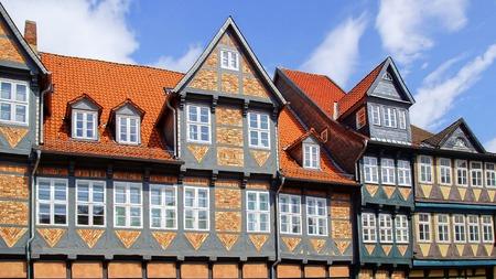 fachwerk: The old fachwerk house in Wolfenbuttel. Germany
