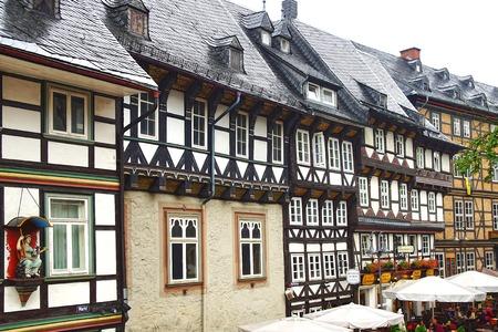 fachwerk: Old fachwerk house at medieval market square, Marktplatz. Editorial
