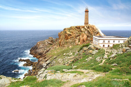 galicia: Lighthouse Cabo Vilan at  Coast of Death , Galicia, Spain