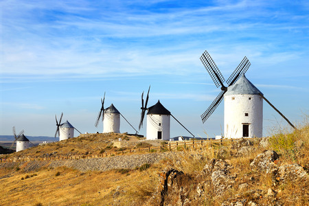 Windmills in Consuegra province of Toledo, Castile-La Mancha, Spain photo