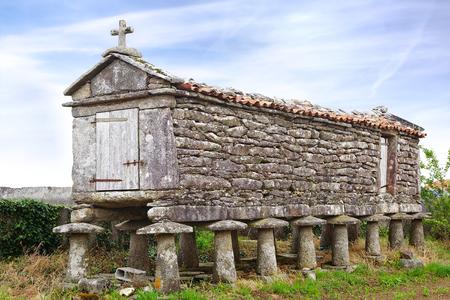 idolatry:   The ancient horreo (granary) in the province of La Coruna, Galicia, Spain