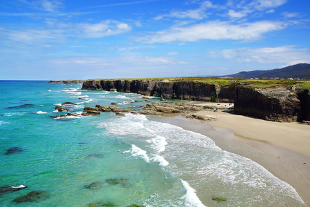 galicia: Beach of the Cathedrals in Ribadeo, Galicia, Spain