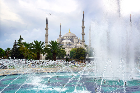 architectural heritage of the world: Blue Mosque Sultan Ahmet Cami in Istanbul Turkey