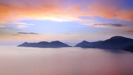 oludeniz: Sea coast with islands near Oludeniz, Turkey Stock Photo