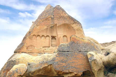 rock formations: Picturesque landscape with Fairy chimneys, Cappadocia in Turkey.