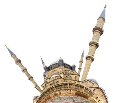 the selimiye mosque: Selimiye Mosque with the little planet effect. Stock Photo