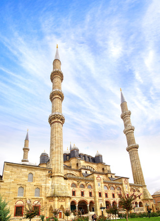 the selimiye mosque: Selimiye Mosque, designed by Mimar Sinan in 1575.  Edirne
