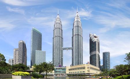 クアラルンプール、マレーシアのペトロナス ツイン タワー。 報道画像