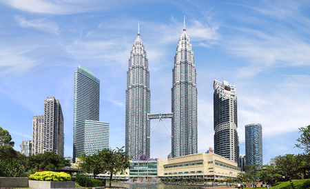 Petronas Twin Towers at Kuala Lumpur, Malaysia. Éditoriale