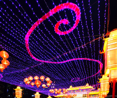 Chinese lanterns during new year festival, Singapore photo