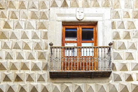 segovia: Moorish floral wall decoration in Segovia, Spain Stock Photo