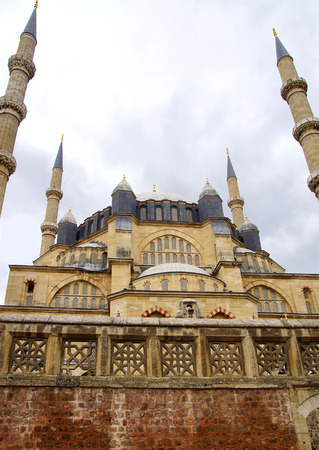 heritage site: Selimiye Mosque, designed by Mimar Sinan in 1575.  Edirne
