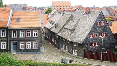 fachwerk: Old fachwerk house along the Liebfrauenberg in Goslar, Germany. Editorial