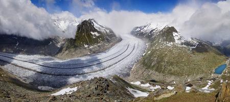 aletsch: Aletsch glacier, the largest gracier in Alps