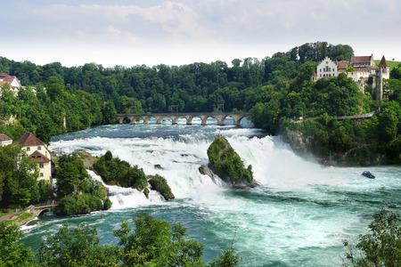 rhein: Rhinefall, the largest Waterfall in Europe. Switzerland